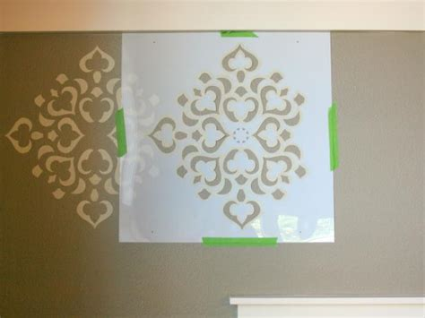 wall stencil template how to stencil a focal wall hgtv