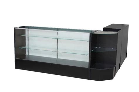 reception desk with glass display reception desk with glass display reception desk retail