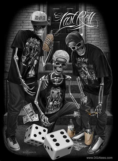 imagenes de calaveras gangster dga tees skull gangster arte skul pinterest
