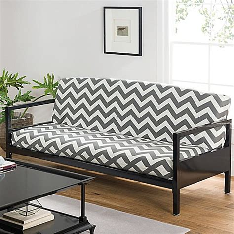futon covers bed bath and beyond loft ny cotton rich futon cover in grey chevron bed bath