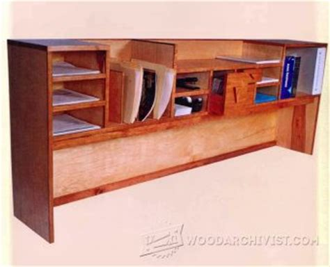 Desk Organizer Plans Santa Fe Style Desk Plans Woodarchivist
