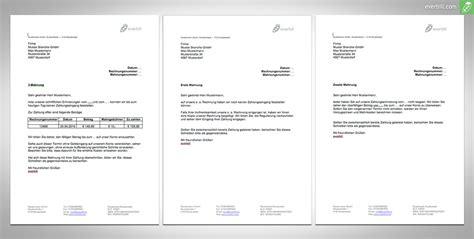 Mahnung Unterhalt Muster Mahnungen Muster 4 Dokumente Zum F 252 R Sie Everbill Magazin