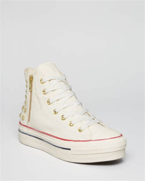 converse platform sneakers converse lace up high top platform sneakers all