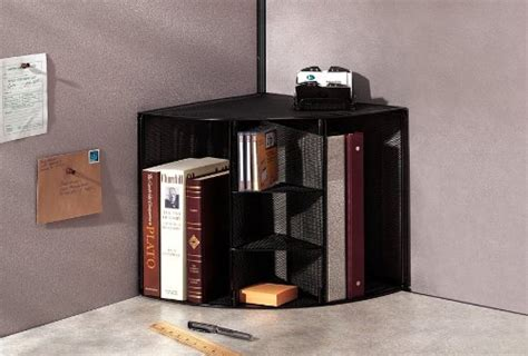 desk corner shelf office storage shelves document desk wall organizer mesh