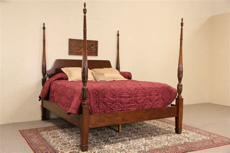 rice beds sold charleston rice motif carved mahogany king size