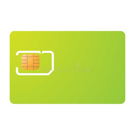 sim card and carrier template stock vector image 5873557