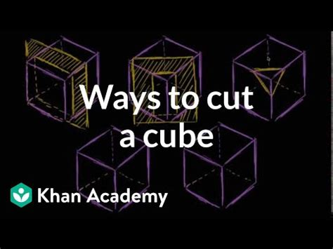 ways to cross section a cube (video) | khan academy
