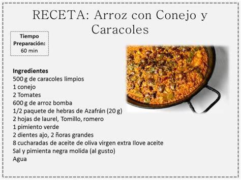 las recetas de las arroz con conejo y caracoles recetas de cocina arroz conejo y recetas de cocina