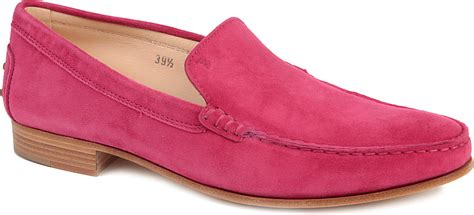 pink loafers mens tod s cuoio basso suede loafers in pink for fushia