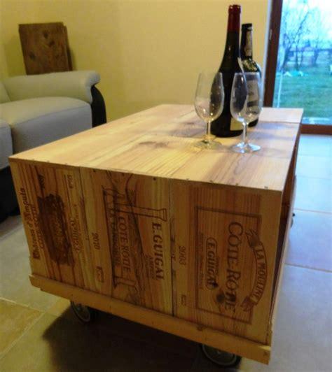 Table Avec Caisse De Vin by Table Basse Sur En Caisse 224 Vin R 233 Alis 233 E 224 Partir