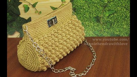 tutorial rajut tas pesta crochet tutorial tas rajut pesta bobble stitch youtube