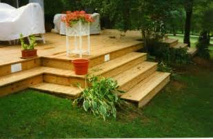 Sloped Backyard Deck Ideas by Decks On Sloped Yard This Deck Has Few Rails And Many