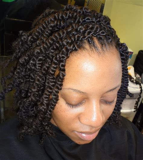 Spring Twists Hairstyles | medium sized spring twists natural hair pinterest
