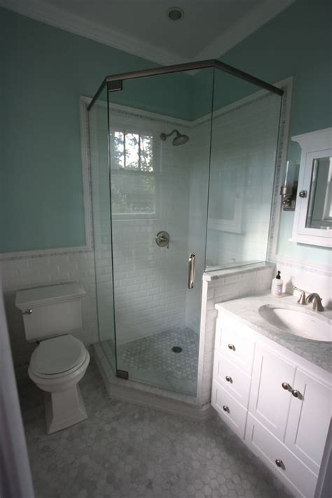 bathroom layout with tub and shower small master bath reno is complete hexagon marble floor