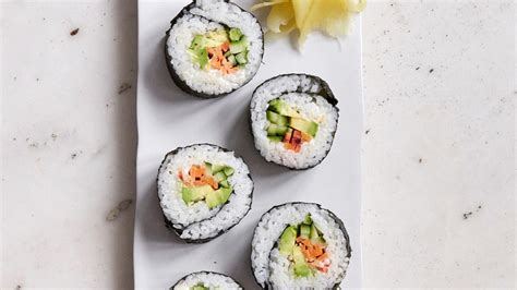 vegetables used in sushi avocado sushi