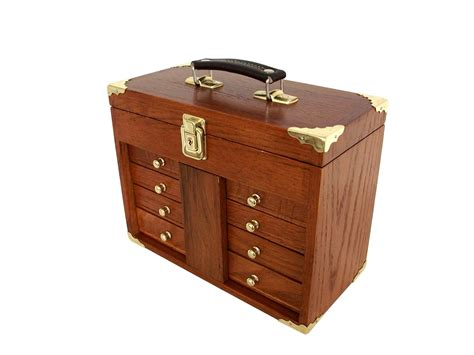 wooden tool storage cabinet solid hard wood portable wood tool box us pro tools