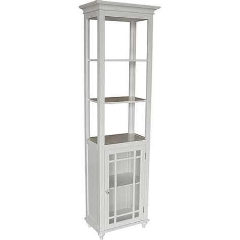 White Bathroom Linen Tower by Heritage Linen Tower White Walmart