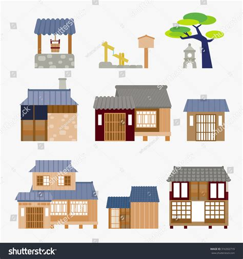 japanese house music japanese house stock vector 316302719 shutterstock