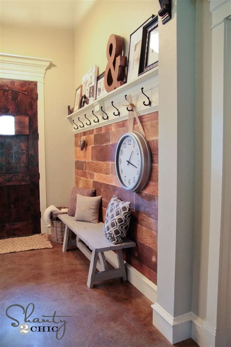 mudroom ideas diy my 100 plank wall shanty 2 chic