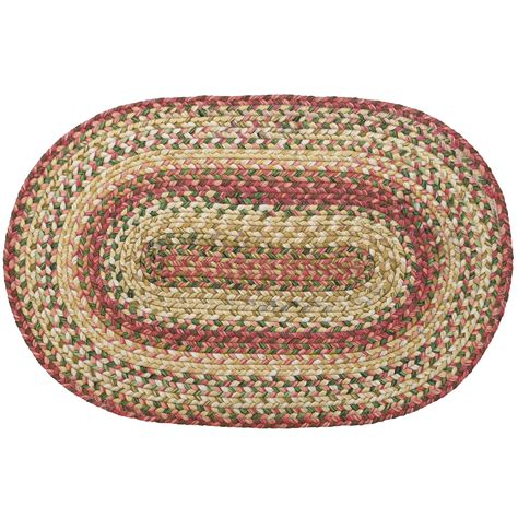 Braided Area Rugs Primitive Country Barcelona Homespice 20 20 X 20 Area Rug