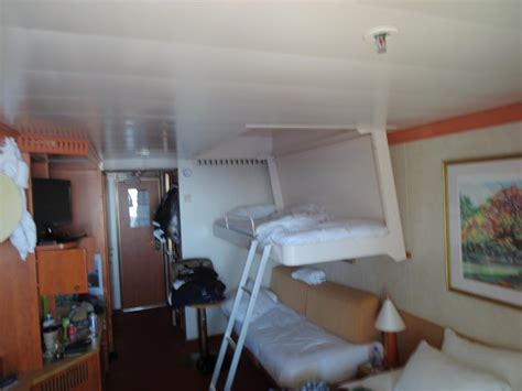 upper pullman bed carnival miracle cruise review for cabin 7144