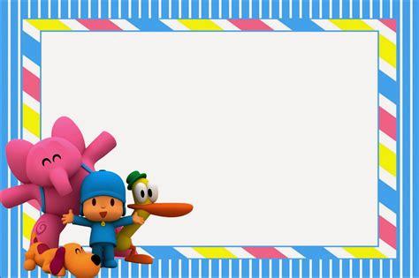 marcos de pocoy marcos infantiles para fotos invitaciones de cumplea 241 os pocoyo para poner de fondo 2 en