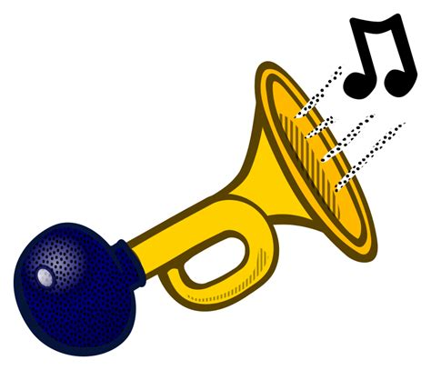 clipart picture clipart horn coloured