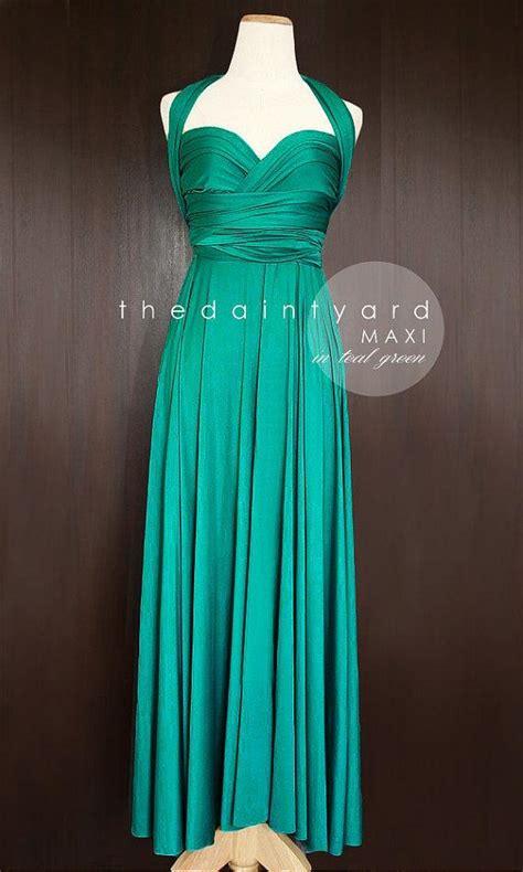 infinity dress teal wedding bridesmaid wrap convertible maxi teal green bridesmaid dress convertible dress