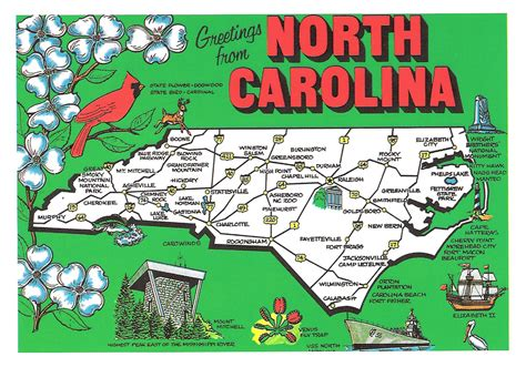 america map carolina detailed tourist illustrated map of carolina vidiani maps of all countries in one