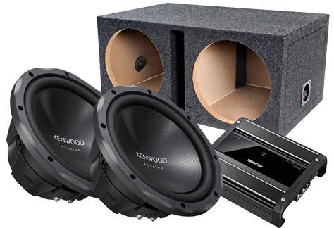 Speaker Subwoofer Kenwood 2 kenwood excelon kfc xw1224d 12 quot subwoofer with carbon
