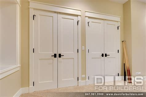 custom interior doors 2 flat panel white painted