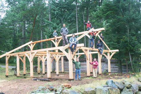island school  building arts courses timber post
