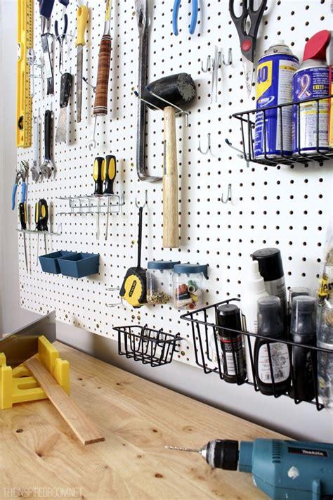 pegboard organization garage ideas  interior design