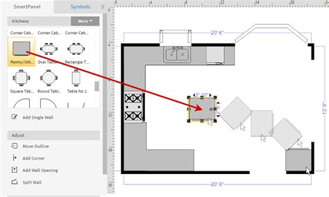 how to draw a kitchen floor plan how to draw a floor plan with smartdraw