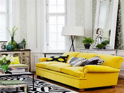 livingroom deco floral yellow living room interior design with modern