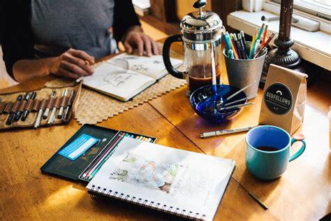 i work artist s work desk image free stock photo