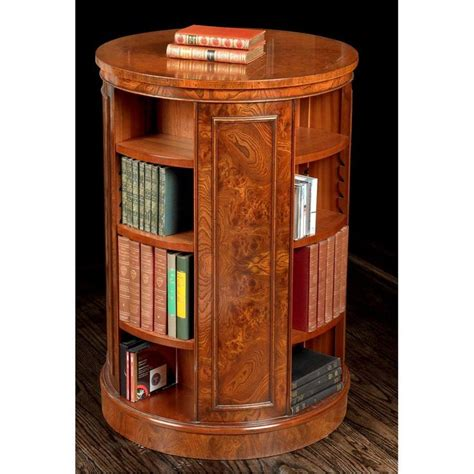 revolving elm bookcase home decor