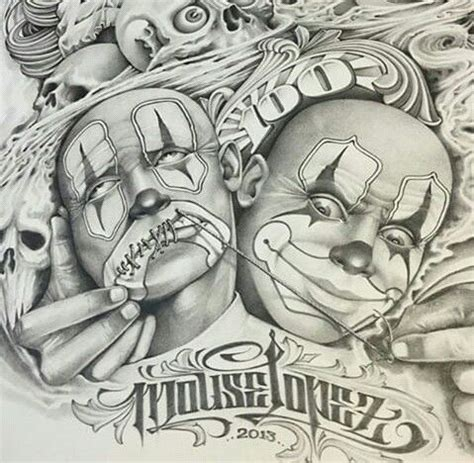 arte work by chicano tattoo artist mouse lopez chicano