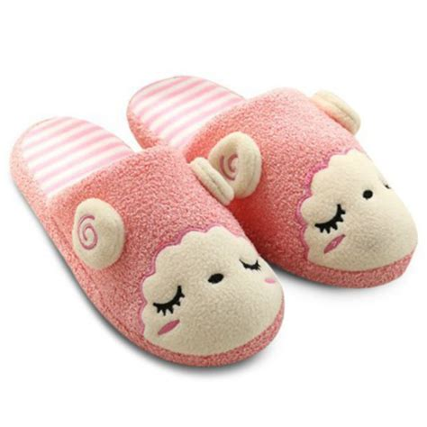 cute house shoes shoes slippers sheep cute kawaii pink fashion style sleepwear wheretoget