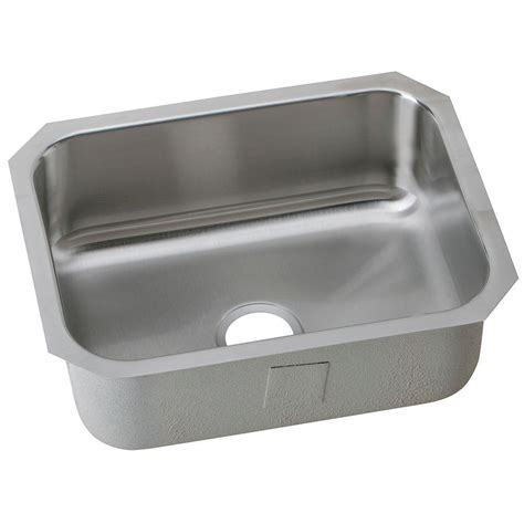 stainless steel single bowl undermount kitchen sink elkay undermount stainless steel 24 in single bowl