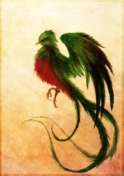 quetzal tattoo pin quetzal bird flying on