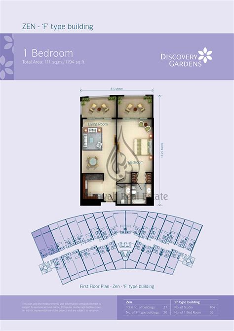 Discovery Gardens Floor Plan - apartment for sale and rent in discovery gardens dubai