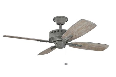 weathered gray ceiling fan with light kichler 310135wzc weathered zinc 52 quot indoor ceiling fan