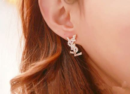 Anting Korea Swan stud earrings anting wanita golden