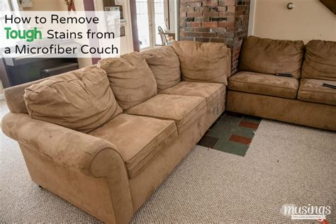 remove stain from sofa how to remove tough stains from a microfiber couch