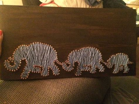 String Elephant - elephant string by distanceoflove on etsy string
