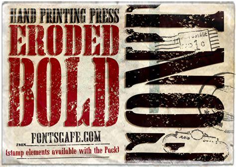 dafont eroded hand printing press eroded font dafont com
