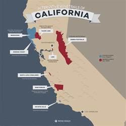 california winery map 8 alternative wine trails of california wine folly