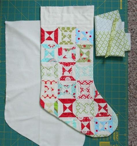 free pattern for lined christmas stocking 1000 ideas about quilted christmas stockings on pinterest