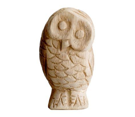 voorbeeld van massief houten uil carving birdsfan birds